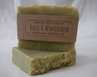 Basil + Wintergreen Natural Soap