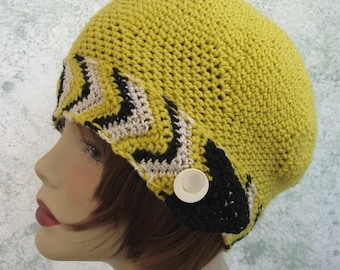 Womens Crochet Hat Pattern Cloche With Chevron Band  Instant Download May Resell finished
