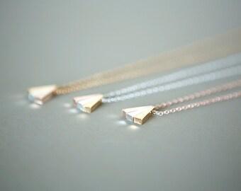 Minimalist Three Triangle Necklace (Silver Plated), Minimalist Jewelry, Dainty Jewelry, Minimalist Necklace, Dainty Necklace