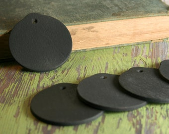 Round Chalkboard Tags, Set of 5, 10 or 25