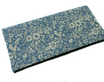 Gift wedding Valentine - case for family in ecru, blue floral fabric