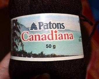 Yarn Patons Canadiana Chocolate Brown
