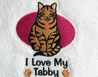 Cats Kitchen Decor, Tabby Cat Housewarming Gift, Best Cat Lover Gift, Crazy Cat Lady Gift, Cat Tea Towel, Kittie Cat Towel Cat Lover Gift