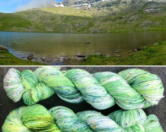 New Life Donegal Sock, speckled Spring theme merino yarn with multicoloured neps