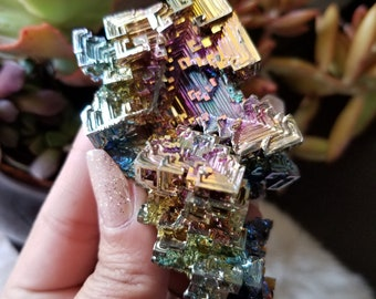 Bismuth- Bismuth Cluster-Large Bismuth Cluster-Metaphysical-Mineral Specimen
