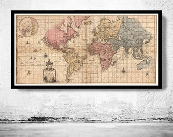 Old World Map antique 1676