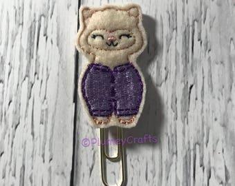 Purple Pajama llama paper clip, go wild llama paperclip, planner paperclip, pajama paperclip, pajama bookmark