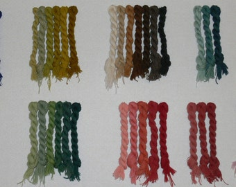 Embroidery wool -  56 Assorted vegetable dyed colors