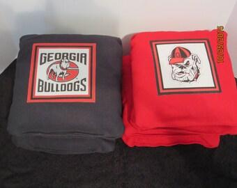 Georgia Bulldogs - Set of 8 Corn Hole Bags w/Game & Scoring Rules