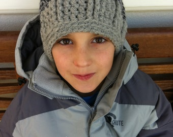 Crochet hat pattern for boys in bulky yarn - Funky Chunky Beanie Pattern No.400 Instant Digital Download English