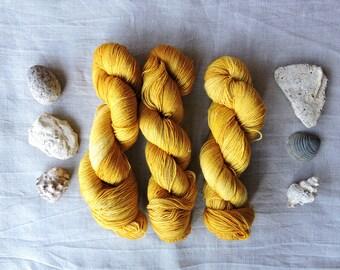 Mustard 4ply - Hand Dyed Yarn -   100% merino wool