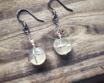 Agate Nest Earrings (Hypoallergenic)