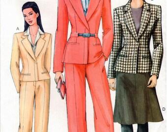 Vogue Pattern 7343 - Misses Jacket, Skirt & Pants - UNCUT - 8-12
