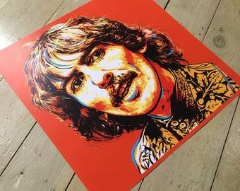 "George Harrison - Sgt Pepper's Lonely Hearts Club Band Beatles portrait, 16"" x 16"" digital art print."