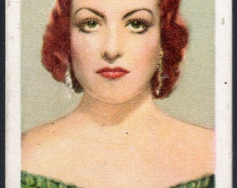JOAN CRAWFORD 1934 Gallaher Champions of Screen & Stage #7 Cigarette Card