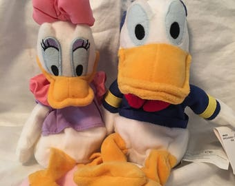 Vintage Donald and Daisy plushies