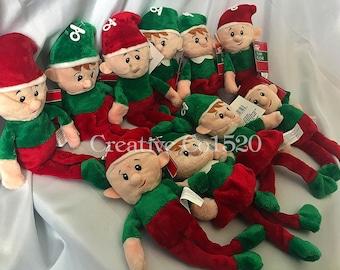 Set of 2 Personalized Plush Christmas Elves | Plush Christmas Elves | Personalized Plush Christmas Elf | Plush Christmas Elf | Christmas Elf