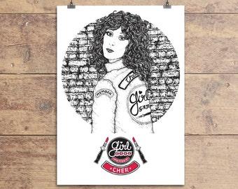 Cher - Girl Gang Greeting Card