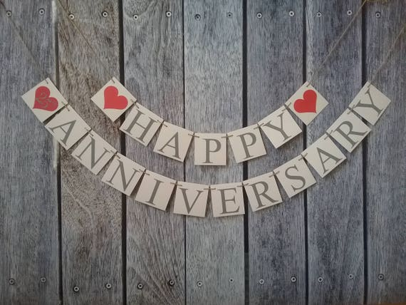 Wedding anniversary banner just married years