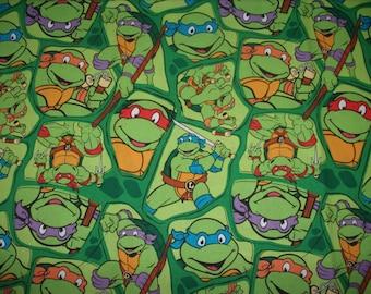 REMNANT-5/8 yard Licensed cotton fabric-Ninja Turtles