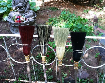 Children's Broom in your choice of Natural, Black, Rust or Mixed Broomcorn - Kids Broom - Miniature Kitchen Broom