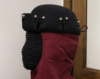 Multi Slash Stud Felt Hat - Gothic - Renaissance - SCA 14th - 15th