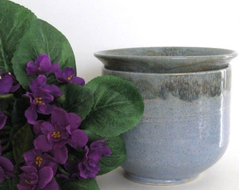 African Violet Pot - Ready to Ship - 2 pc Self Watering Planter - Hand Thrown Stoneware Pottery