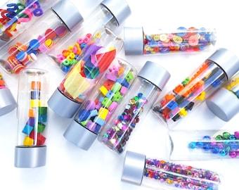 Toddler sensory bottles, Sensory toys, Montessori toy, Montessori baby, Travel toy, Waldorf toy, toddler toy, create your own sensory set,
