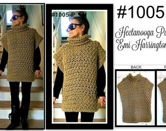 CROCHET PATTERN, Poncho, Winter Clothing, Child, Teen, Women, Easy pattern, Taupe Poncho, #1005P, vest, sweater, crochet for women,