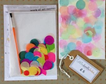 Work of art canvas craft kit