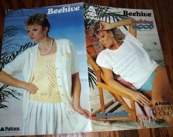 vintage knit patterns ... Beehive LOOKING GOOD SPLENDID Sweater Patterns leaflet pattern ...