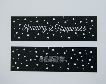 Reading is Happiness- Bookmark