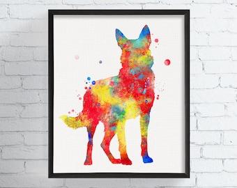 Watercolor German Shepherd, German Shepherd Art, German Shepherd Print, German Shepherd Poster, Watercolor Animal, Watercolor Dog Art Print