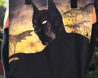 Batman Exclusive Watercolor Artwork Tote Bag