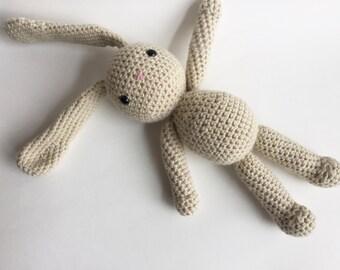 Floppy-eared Crochet Bunny, Bunny Toy, Easter Bunny, Stuffed Animal Toy