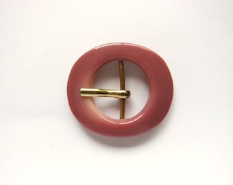 Small Pink Belt buckle, plastic buckle for summer dresses, New/unused!