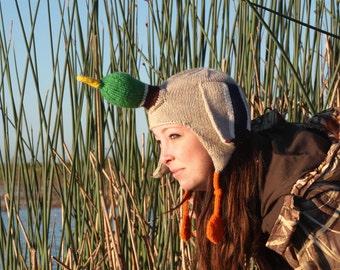 PDF Knitting Pattern- The Duck Hat