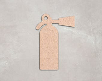 """Wooden fire extinguisher Cutout Shape, Unfinished, craft supplies,decoration, 2"""" 34"""" Home Decor, Wall Hanging, DIY, do it yourself,MDF shape"""