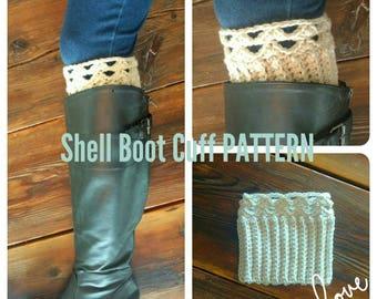 PATTERN Shell Boot Cuff