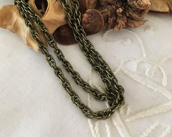 original matted oval link chain bronze, sold by the yard