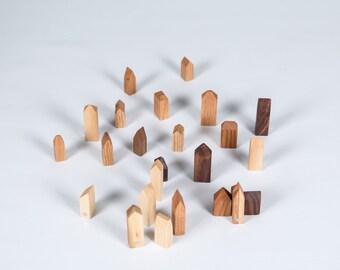 Wood - Wood Magnet magnet-House