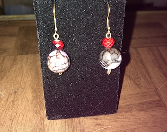 Round multicolored earrings
