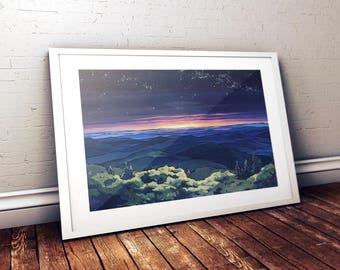 Blue Ridge Night Print