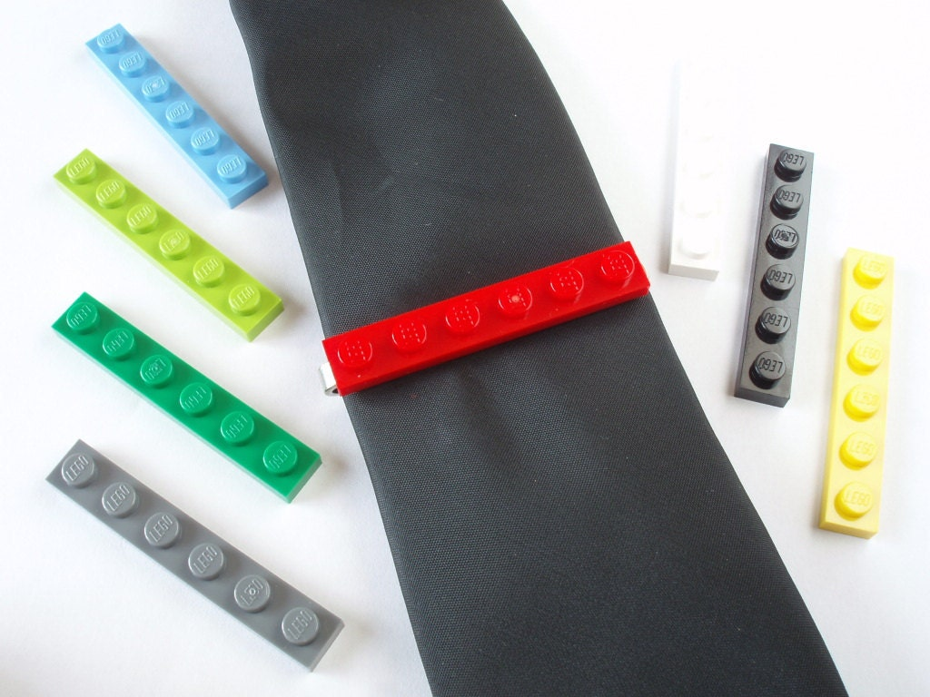 Tie Slide Tie Clip Handmade with LEGO(r) plates Weddings Grooms Best Man Father of the Bride