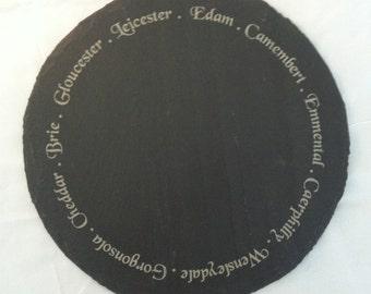 Round Slate Cheese Board Gift