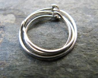22g hoops-- sterling silver, 14k solid gold or niobium hoops-- primitive series-- handmade by thebeadedlily