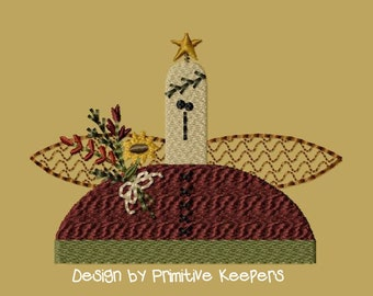 Primitive Machine Embroidery Design-Angel Blessings--Version 1--(4x4)-INSTANT DOWNLOAD
