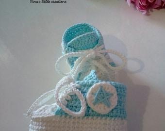 Baby sneakers All Star type/baby crochet Sneakers