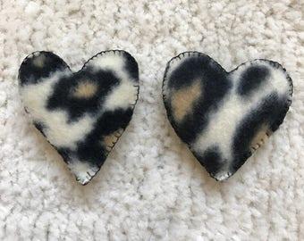 Heart cat nip toy duo set