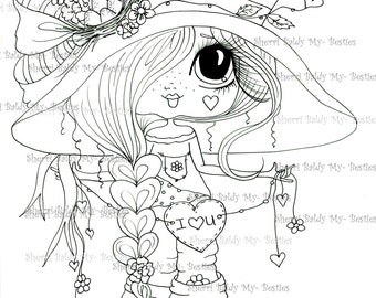 INSTANT DOWNLOAD Digital Digi Stamps Big Eye Big Head Dolls Digi  Img510 By Sherri Baldy